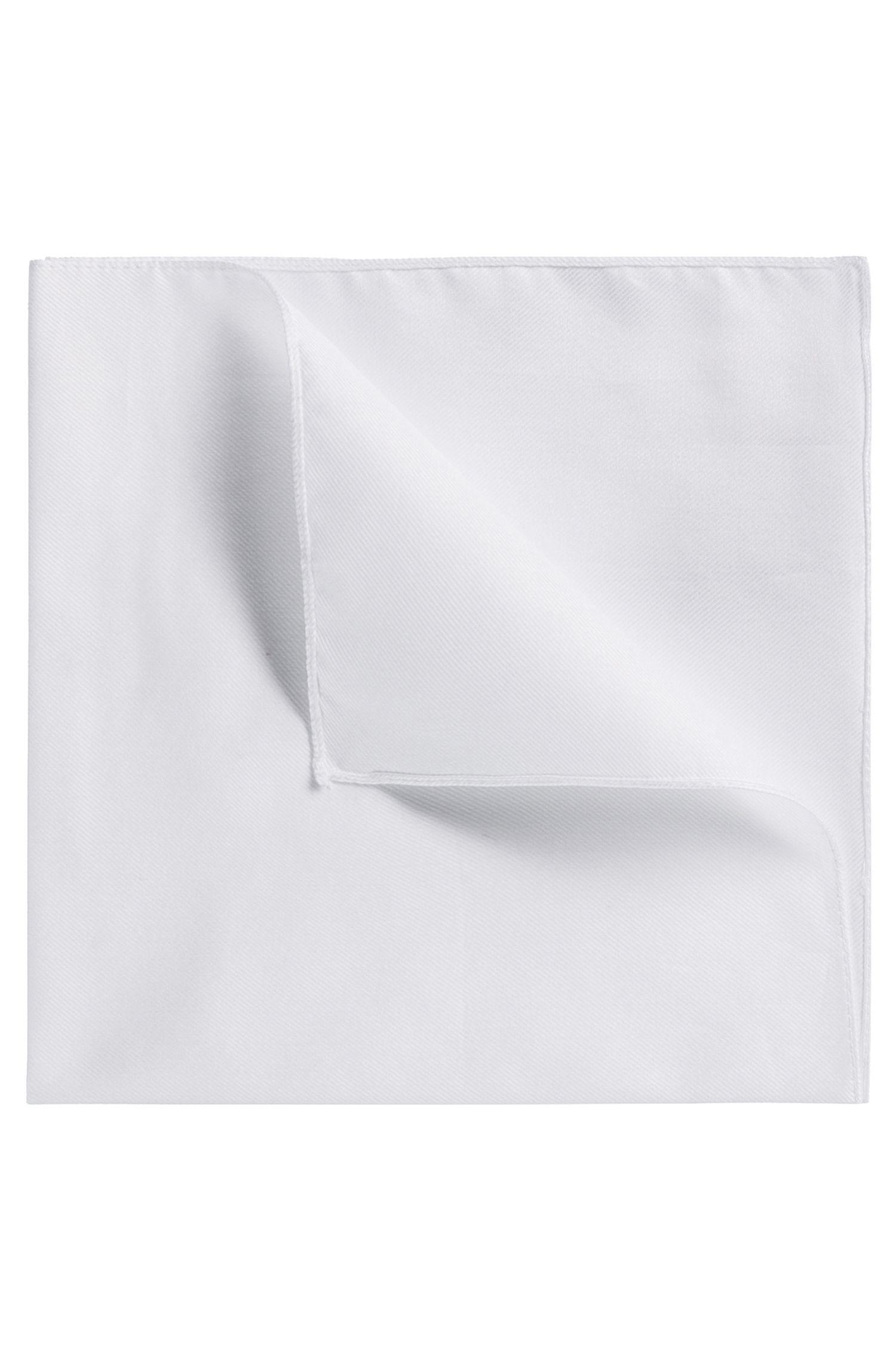Unifarbenes Einstecktuch aus Baumwolle, Weiß