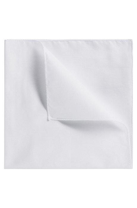 45a5c19e Plain cotton pocket square, White