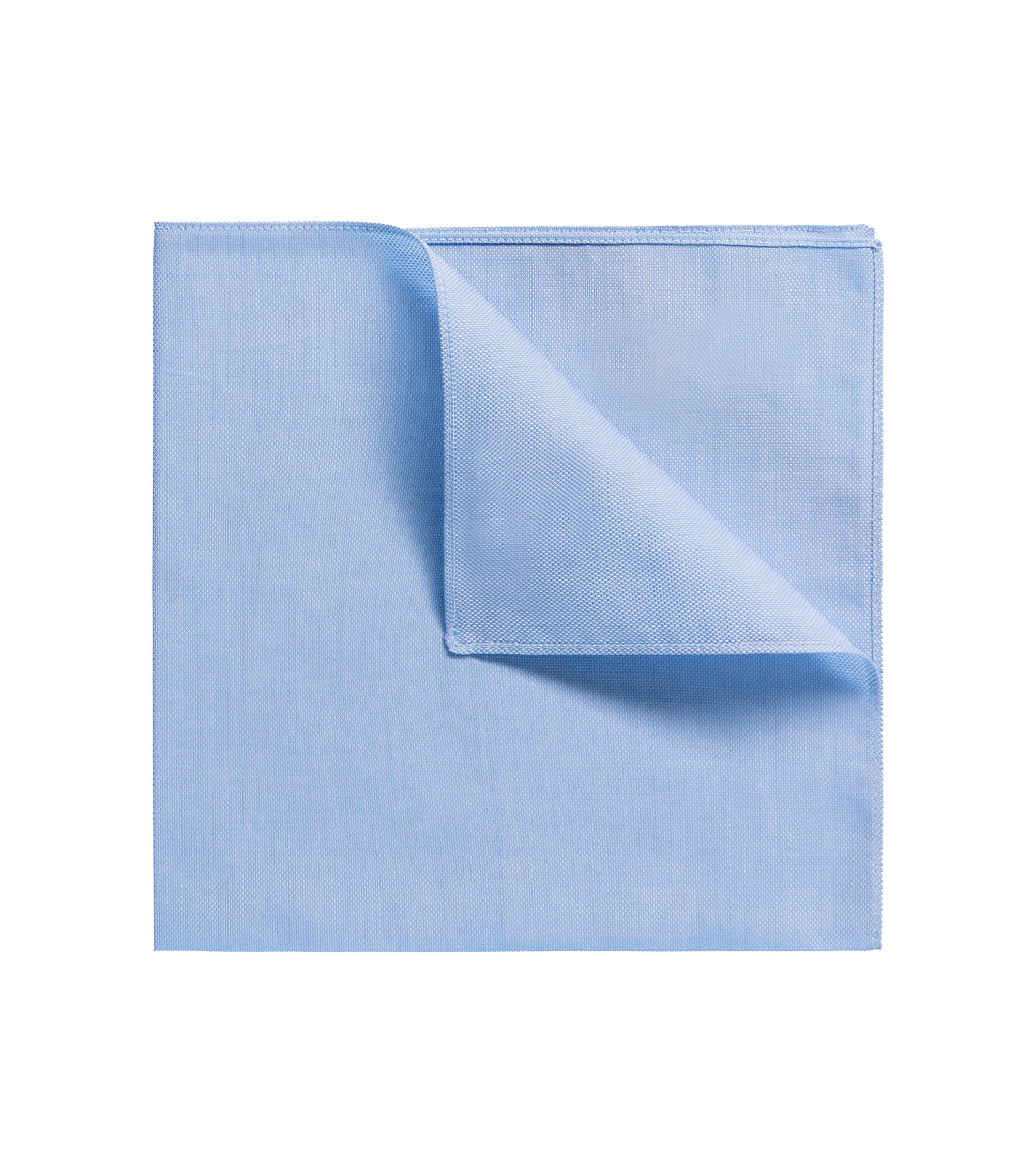 Plain cotton pocket square, Light Blue