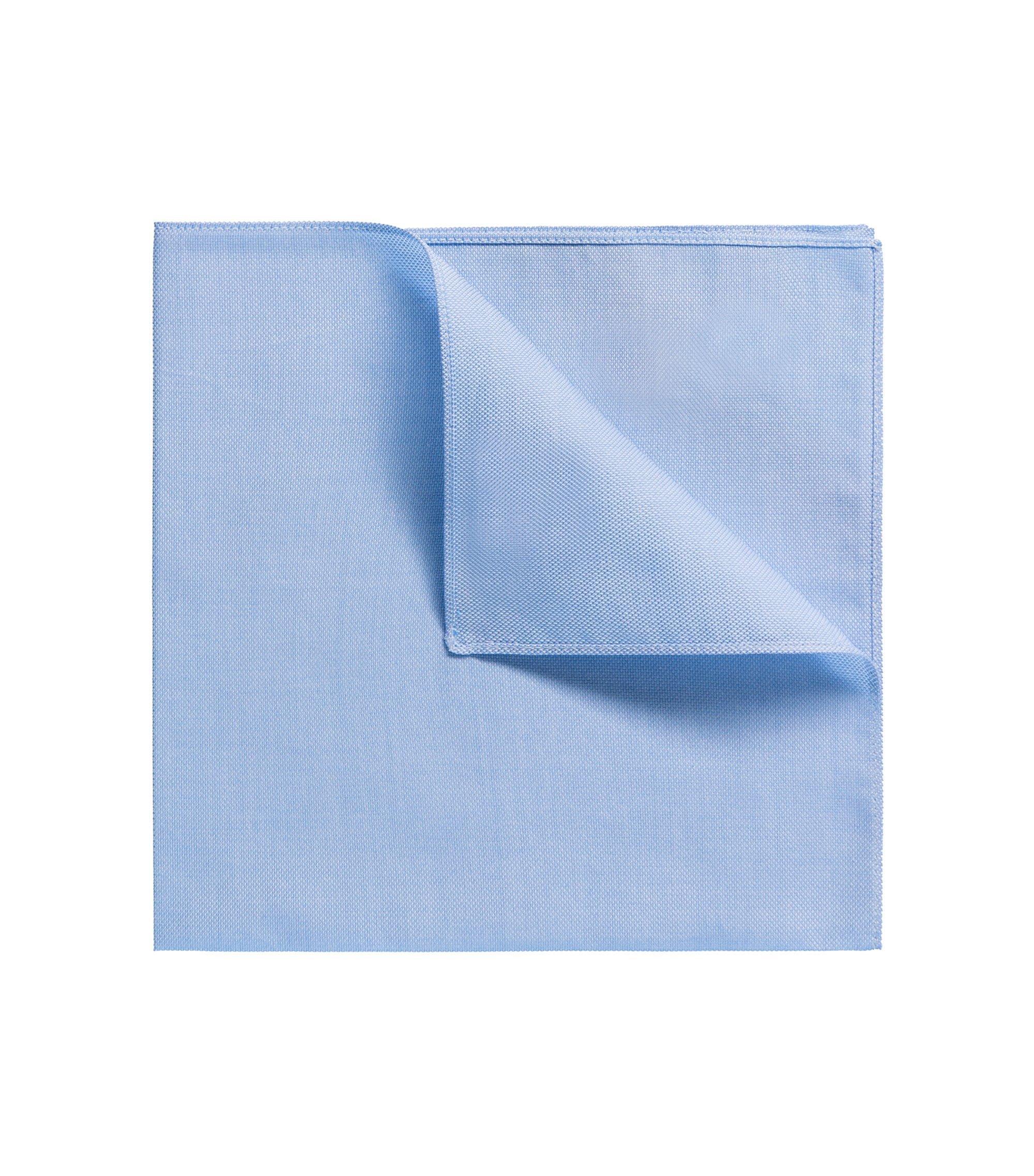 Effen pochet van katoen, Lichtblauw
