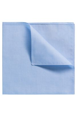 Unifarbenes Einstecktuch aus Baumwolle, Hellblau