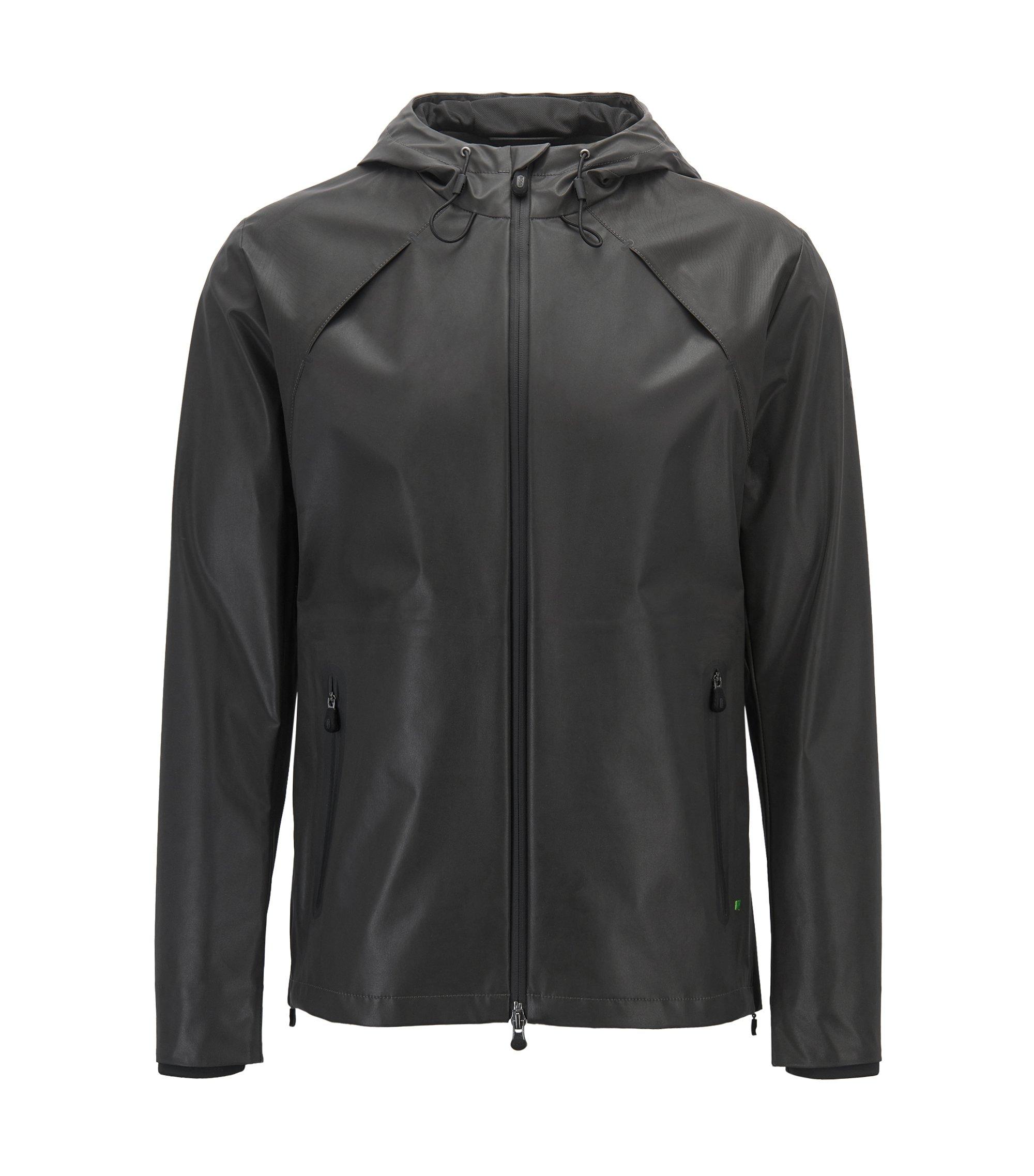 Reflecterende softshell jas van waterafstotend materiaal, Zwart