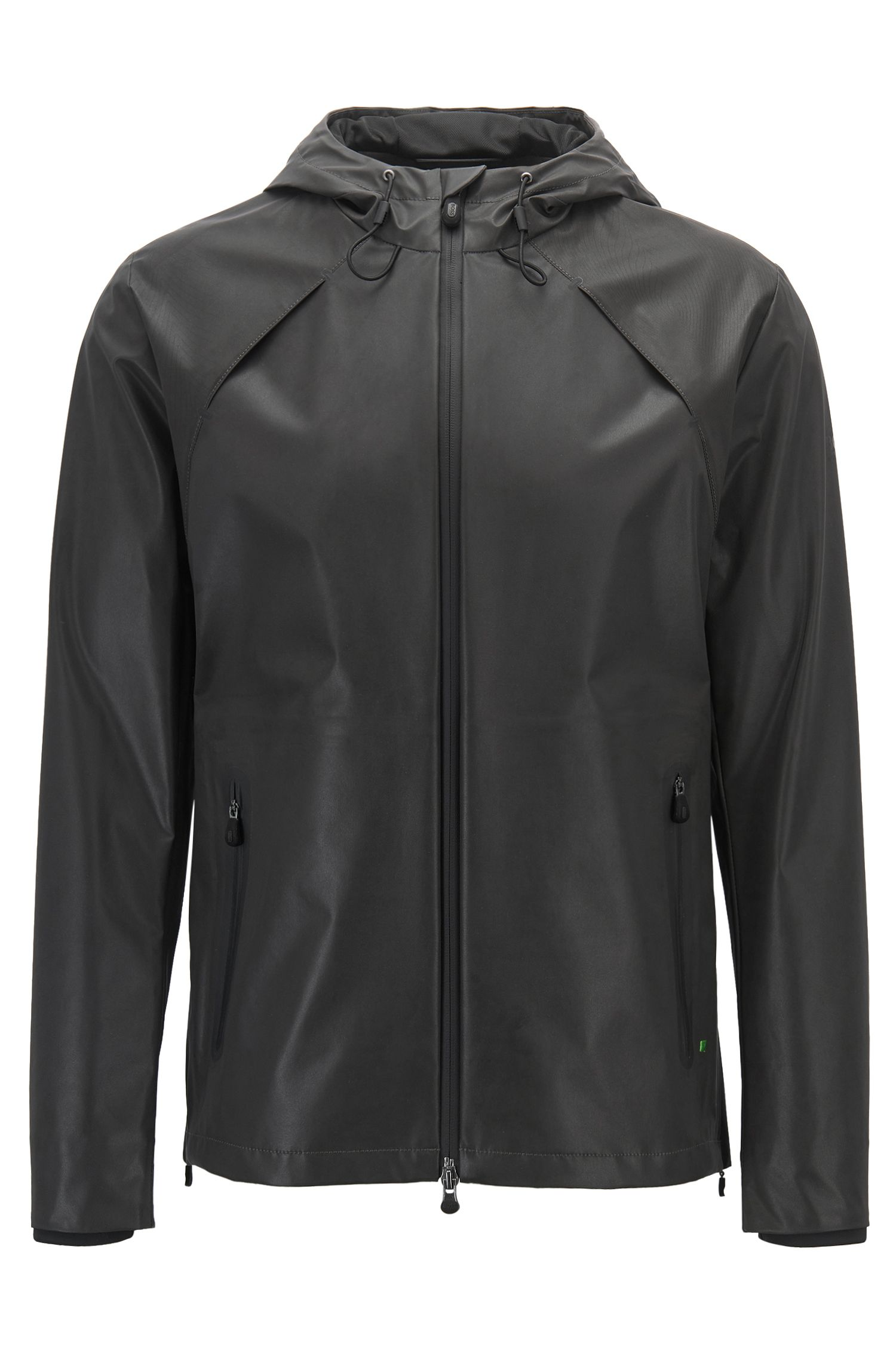 Reflective softshell jacket in water-repellent fabric