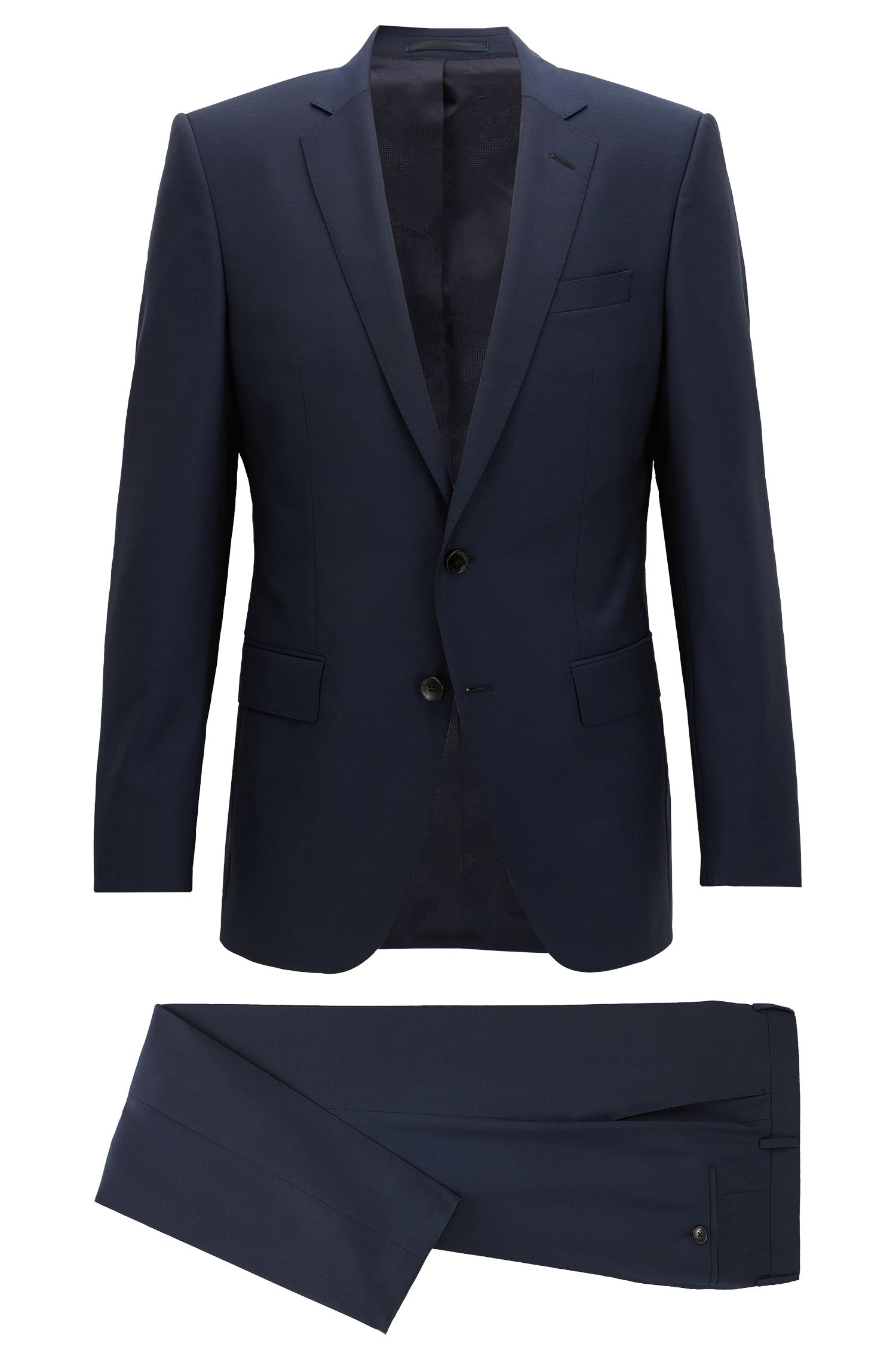 Slim-fit virgin wool suit