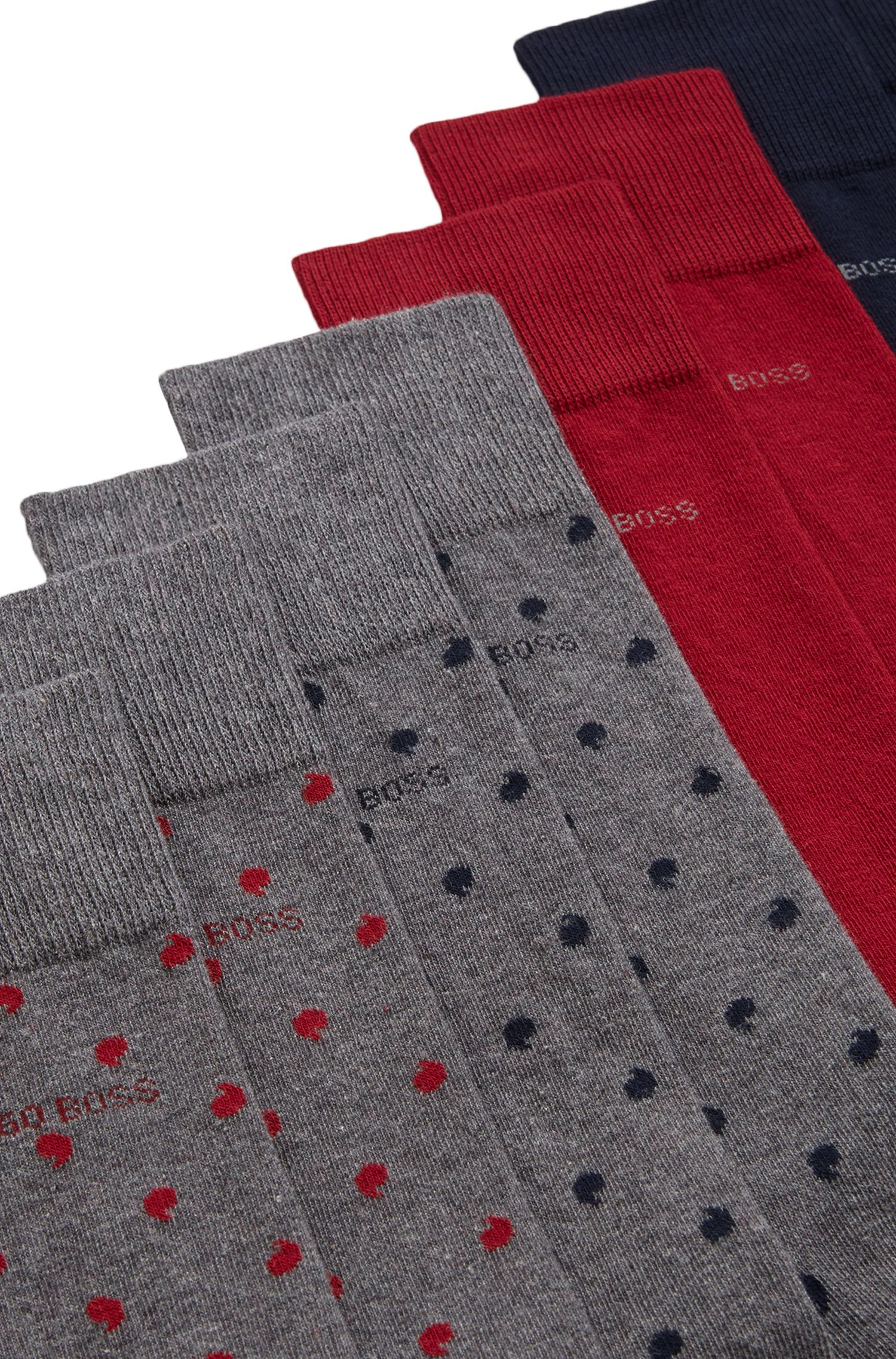 Set regalo composto da calze di lunghezza media in misto cotone elasticizzato in confezione da quattro