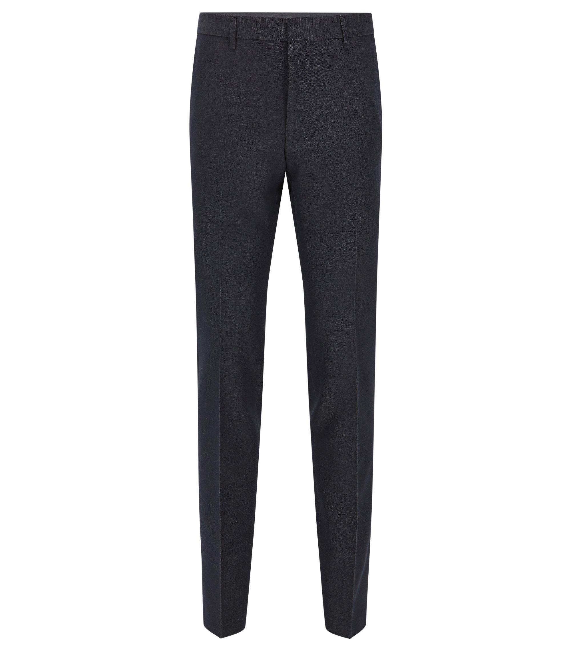 Pantalon Slim Fit en coton mélangé, Bleu foncé