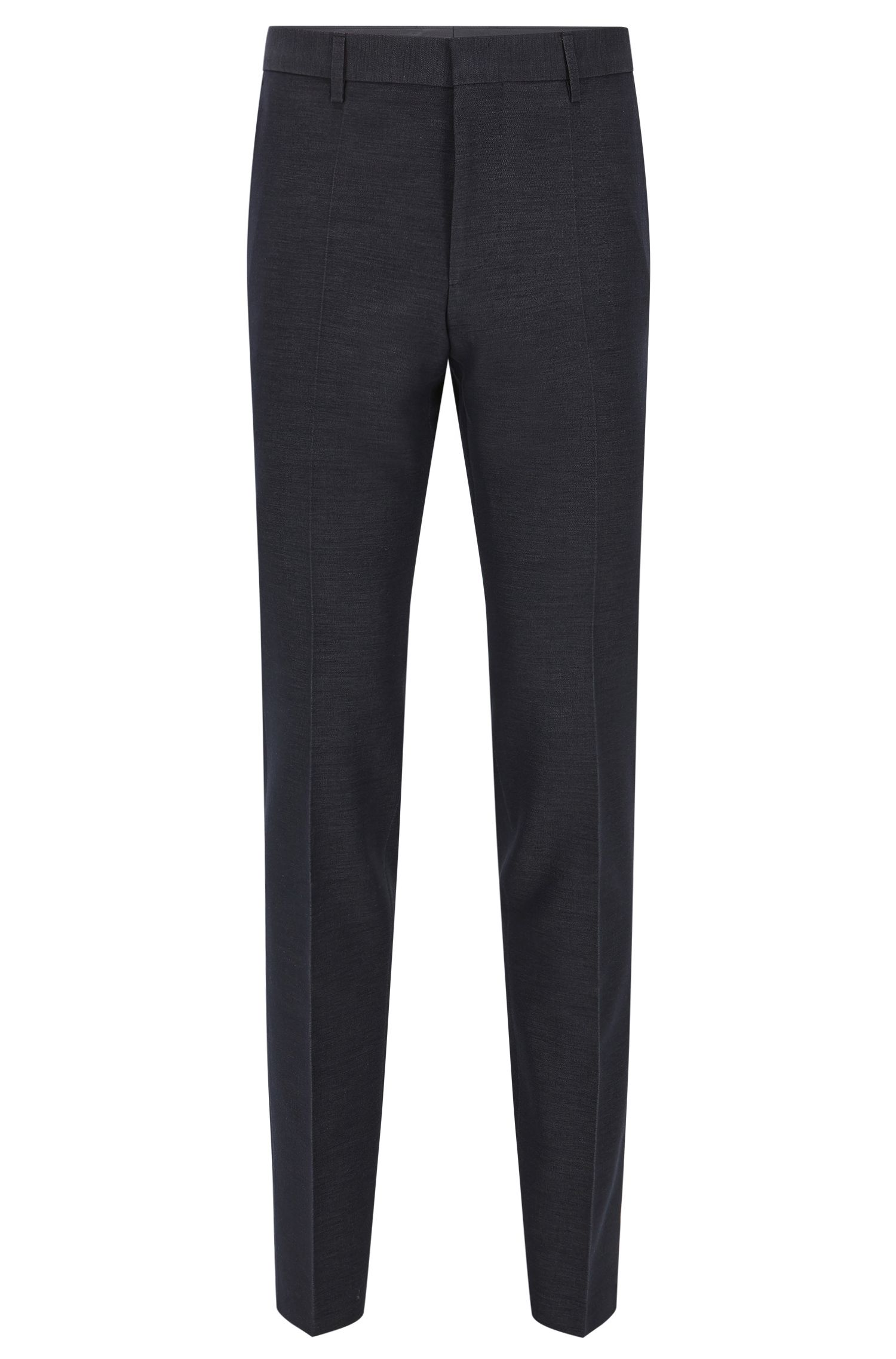 Slim-fit trousers in cotton blend
