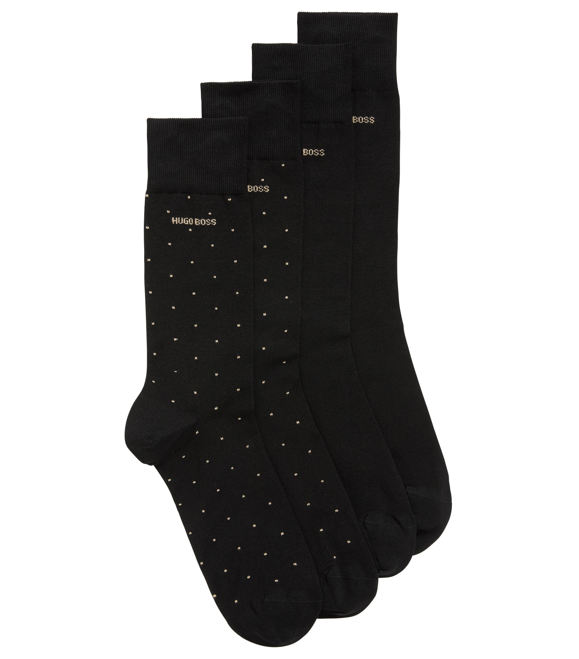Two-pack of cotton-blend socks , Black