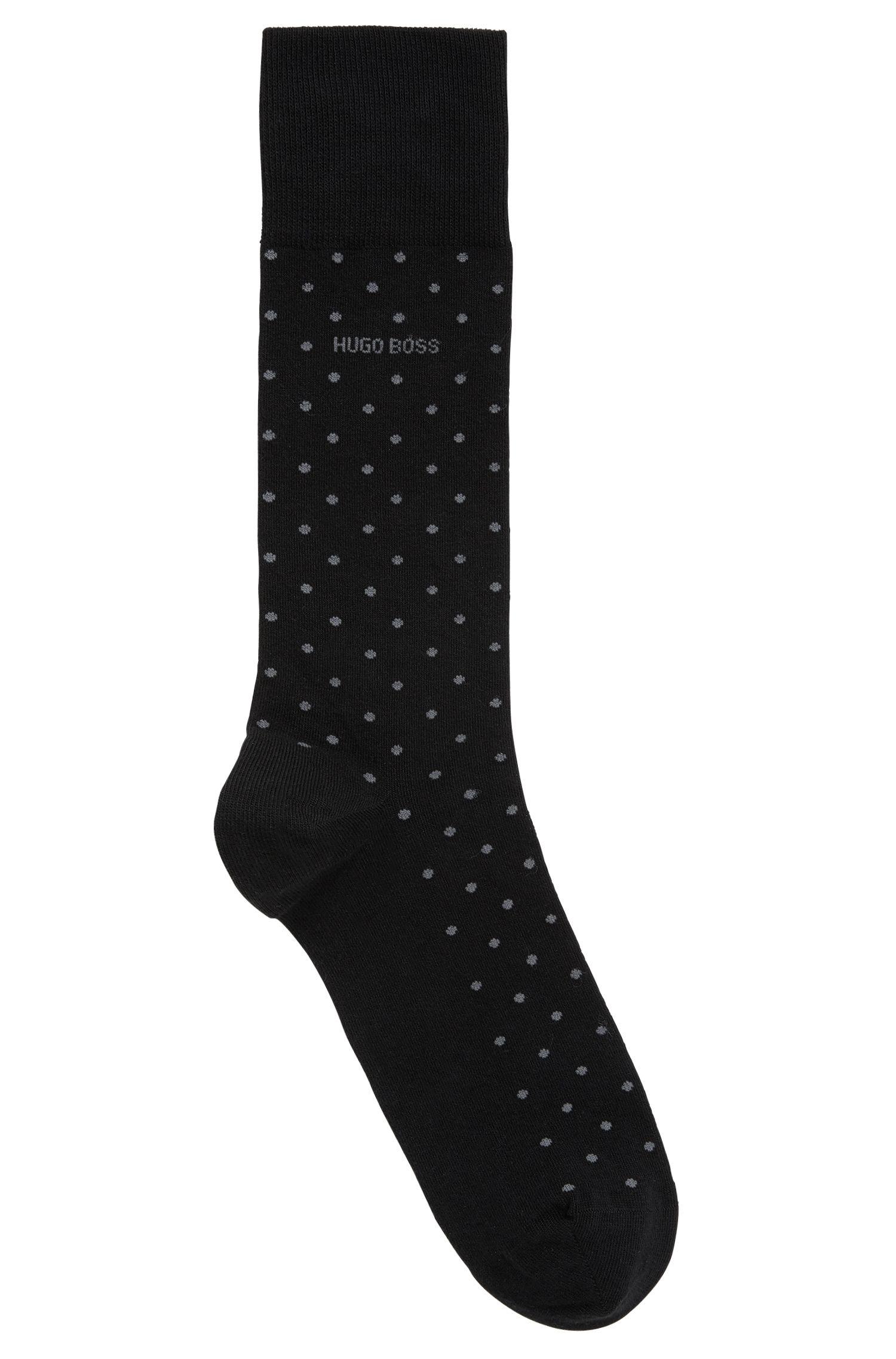 Mittelhohe Socken aus elastischem Baumwoll-Mix