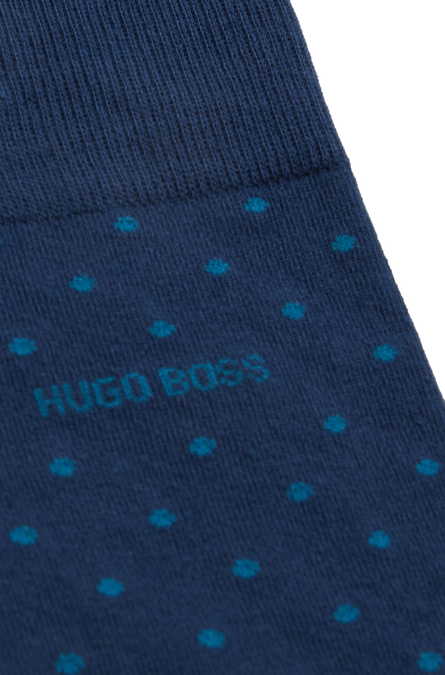 Regular-length socks in a cotton blend