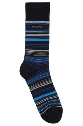 Mittelhohe Socken aus merzerisiertem Baumwoll-Mix mit Elasthan, Dunkelblau