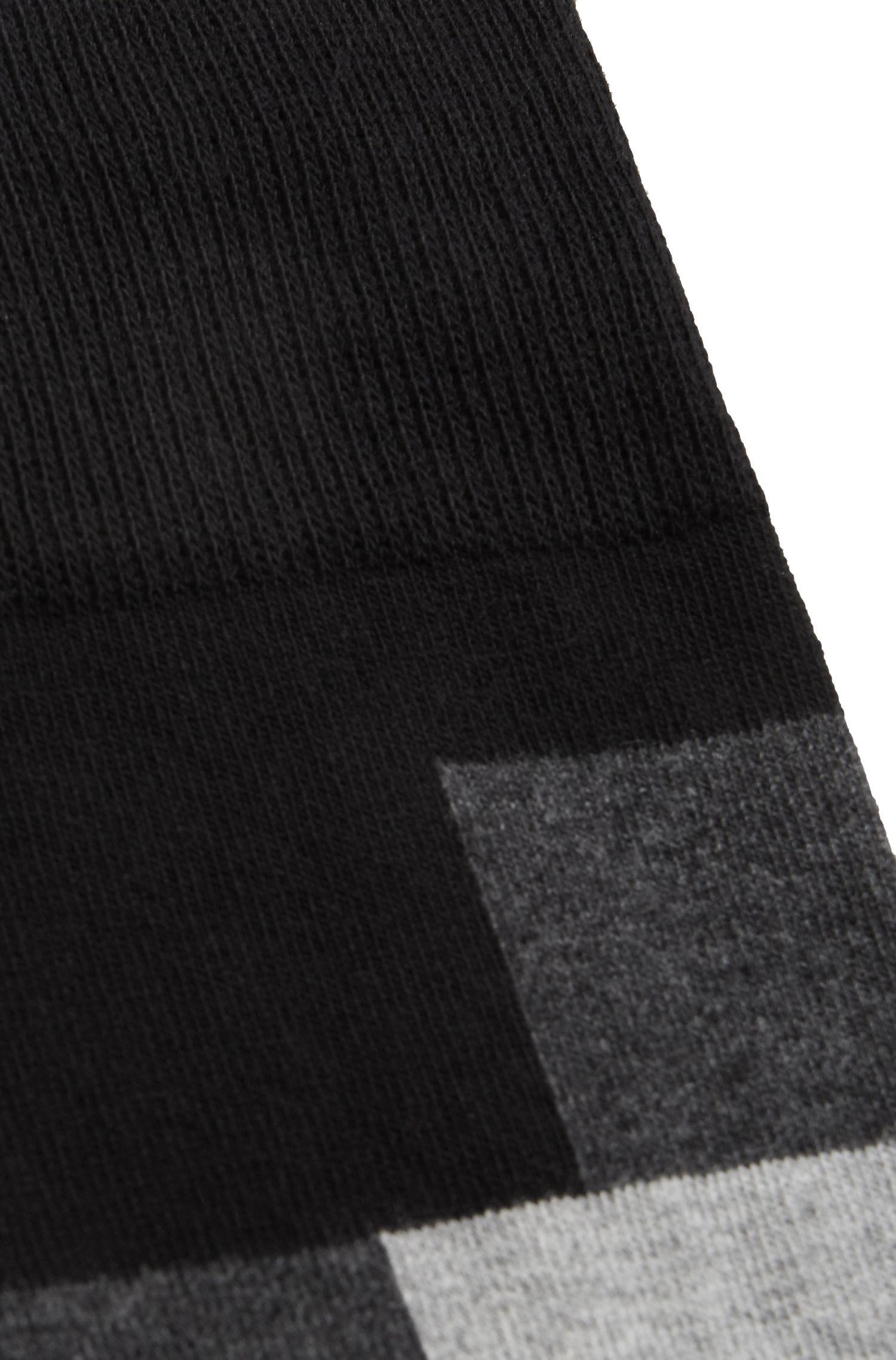 Chaussettes modernes à carreaux, en coton peigné mélangé
