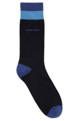 Calze di lunghezza media in misto cotone , Blu scuro