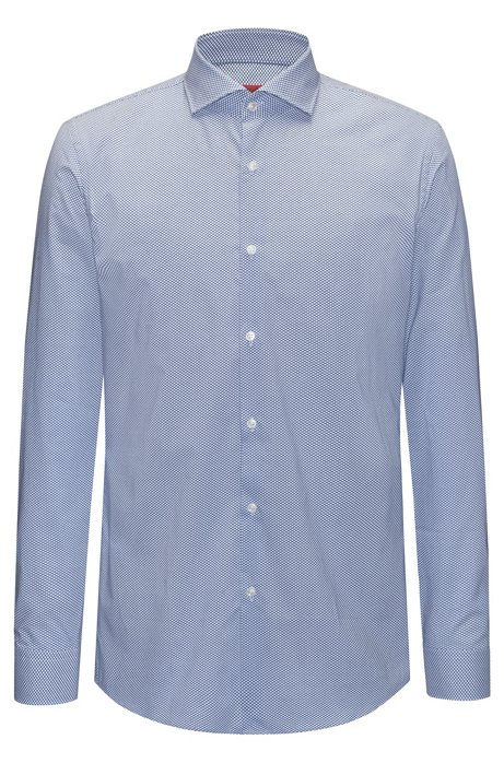 988d5ba04d HUGO - Micro-patterned cotton shirt in a slim fit