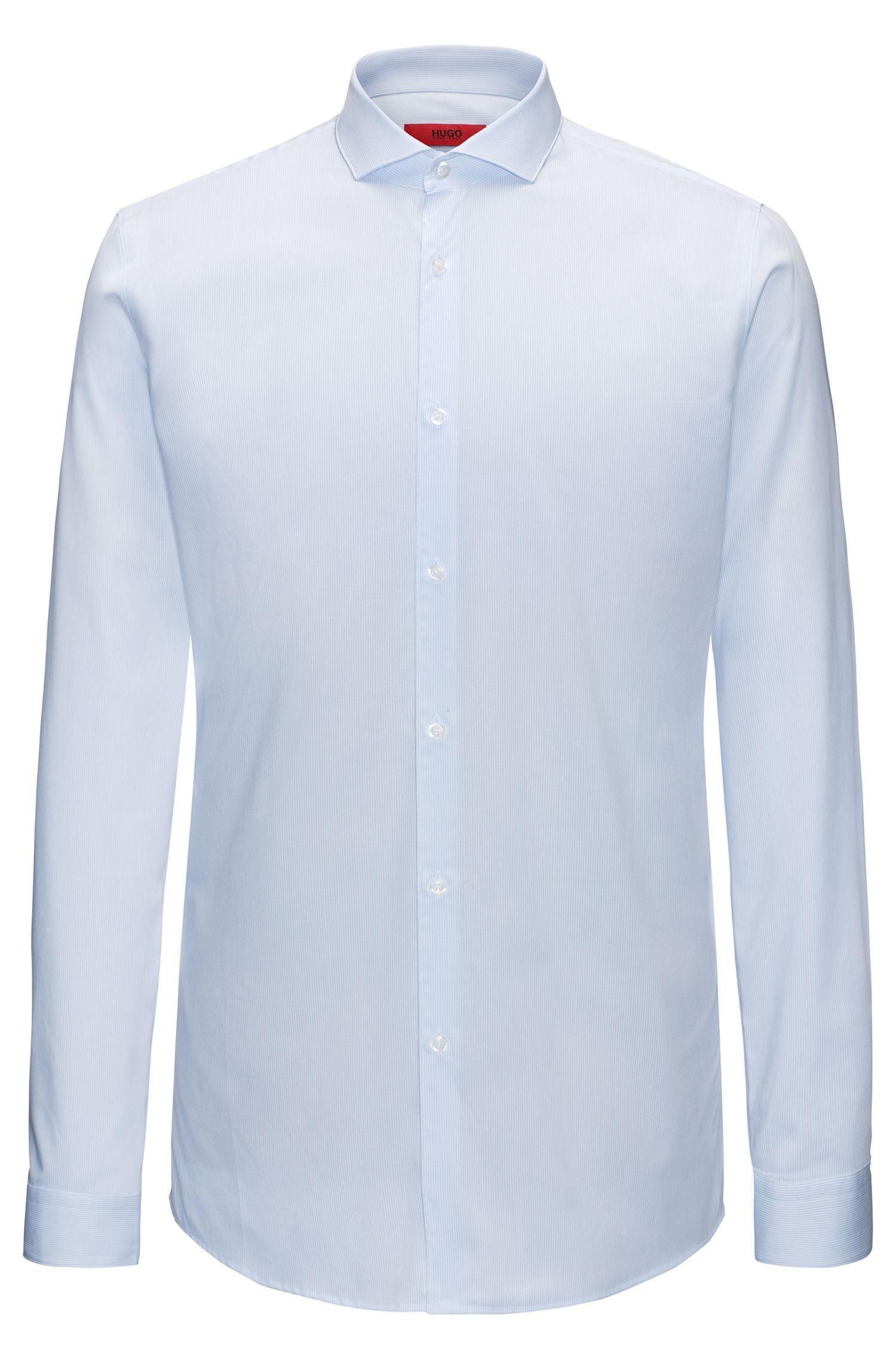 Extra slim-fit overhemd van gestreept katoen