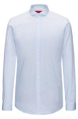 Extra slim-fit overhemd van gestreept katoen, Lichtblauw