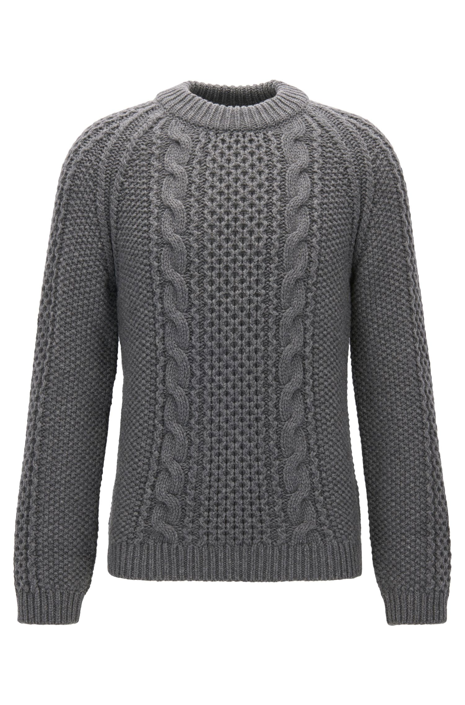 Modern cable-knit sweater in a cashmere blend