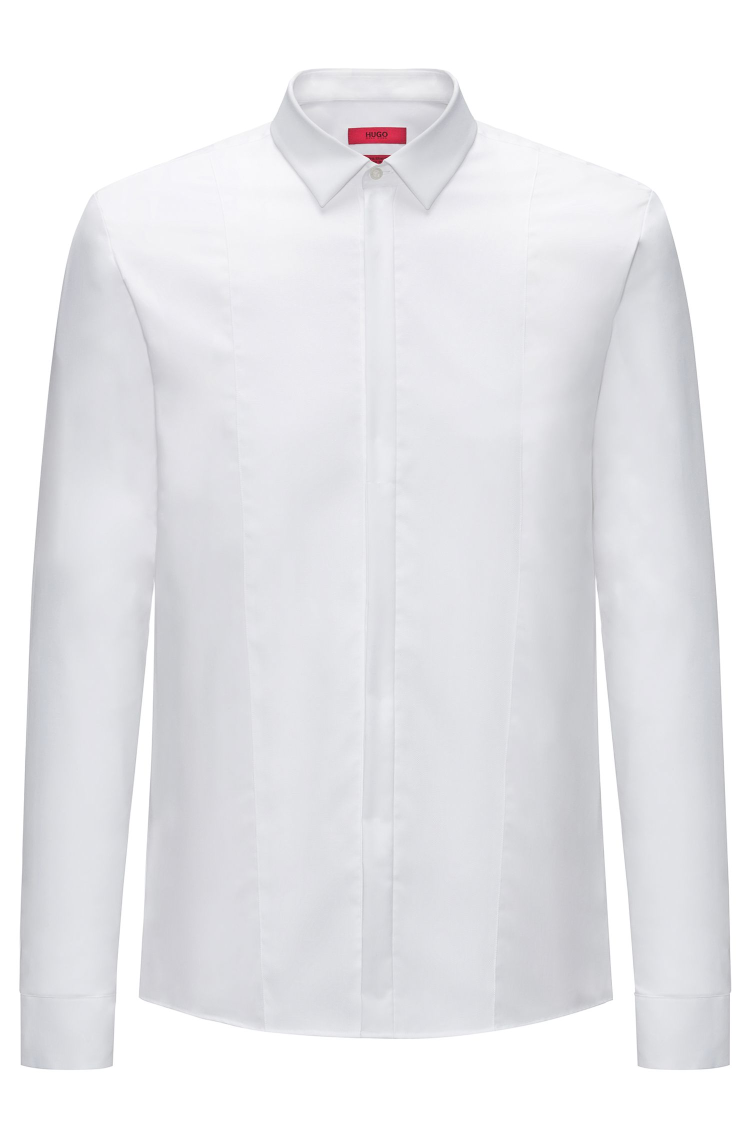 Extra-slim-fit evening shirt in cotton poplin