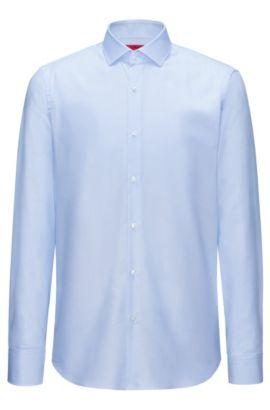 Camicia regular fit in cotone a quadri, Celeste