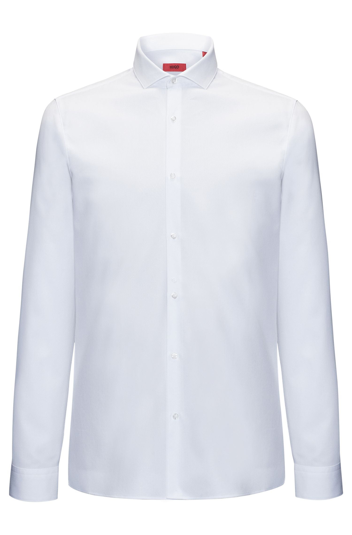 Extra-slim-fit shirt in soft cotton