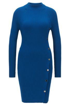 Jersey estilo túnica en tejido elástico, Azul