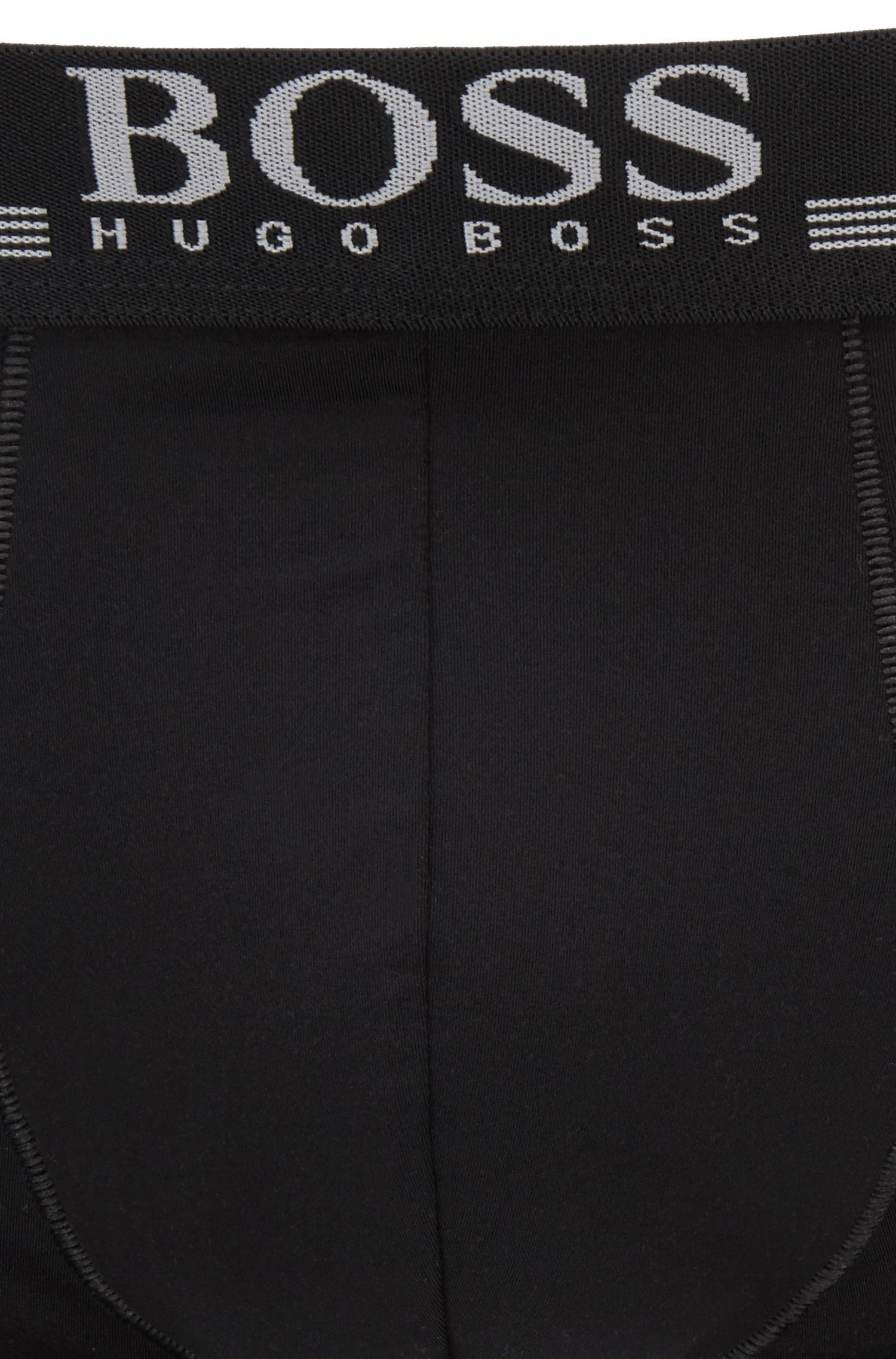 Boxershorts aus hochelastischer Mikrofaser, Schwarz