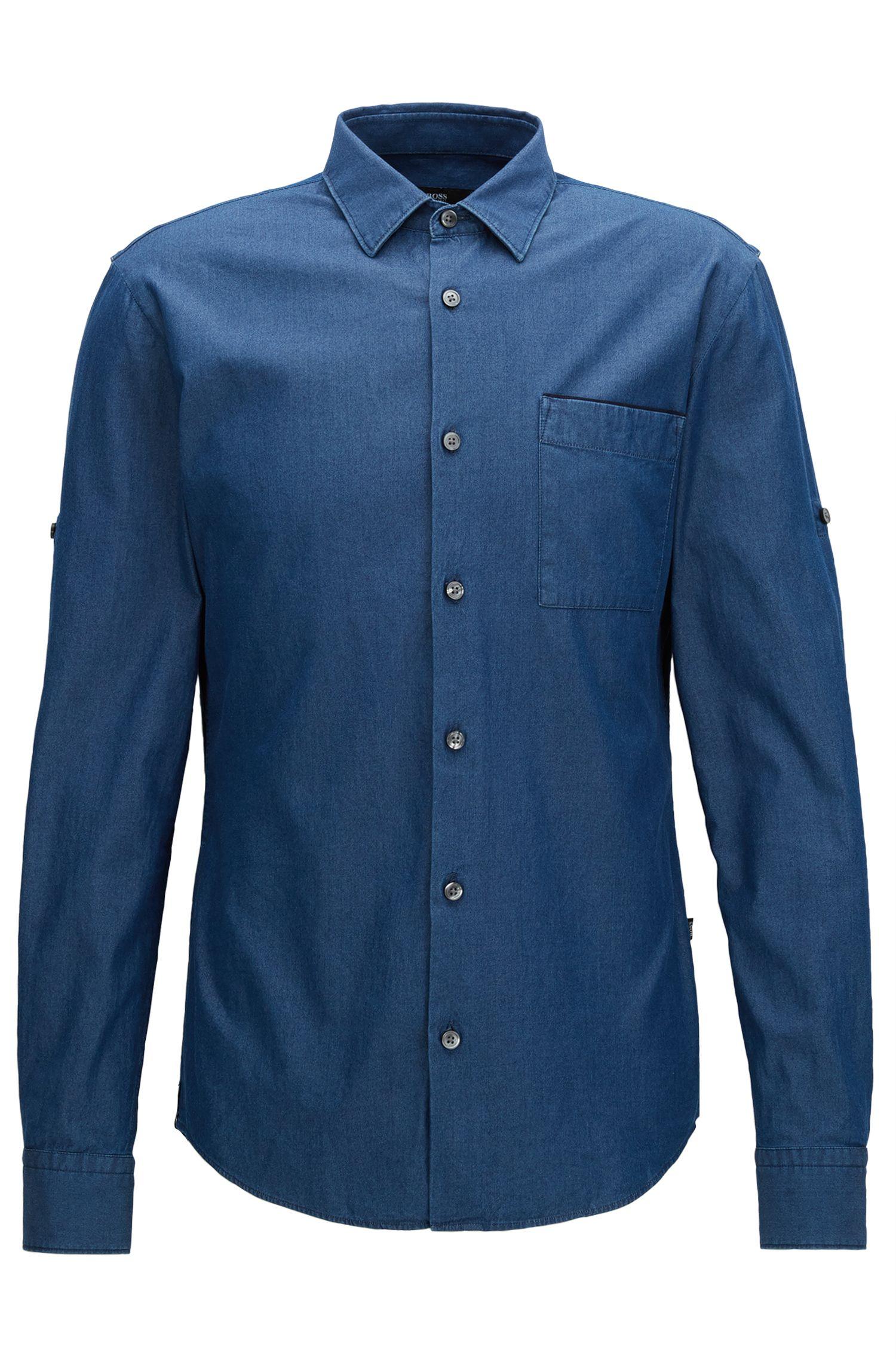 Slim-Fit Hemd aus italienischem Denim