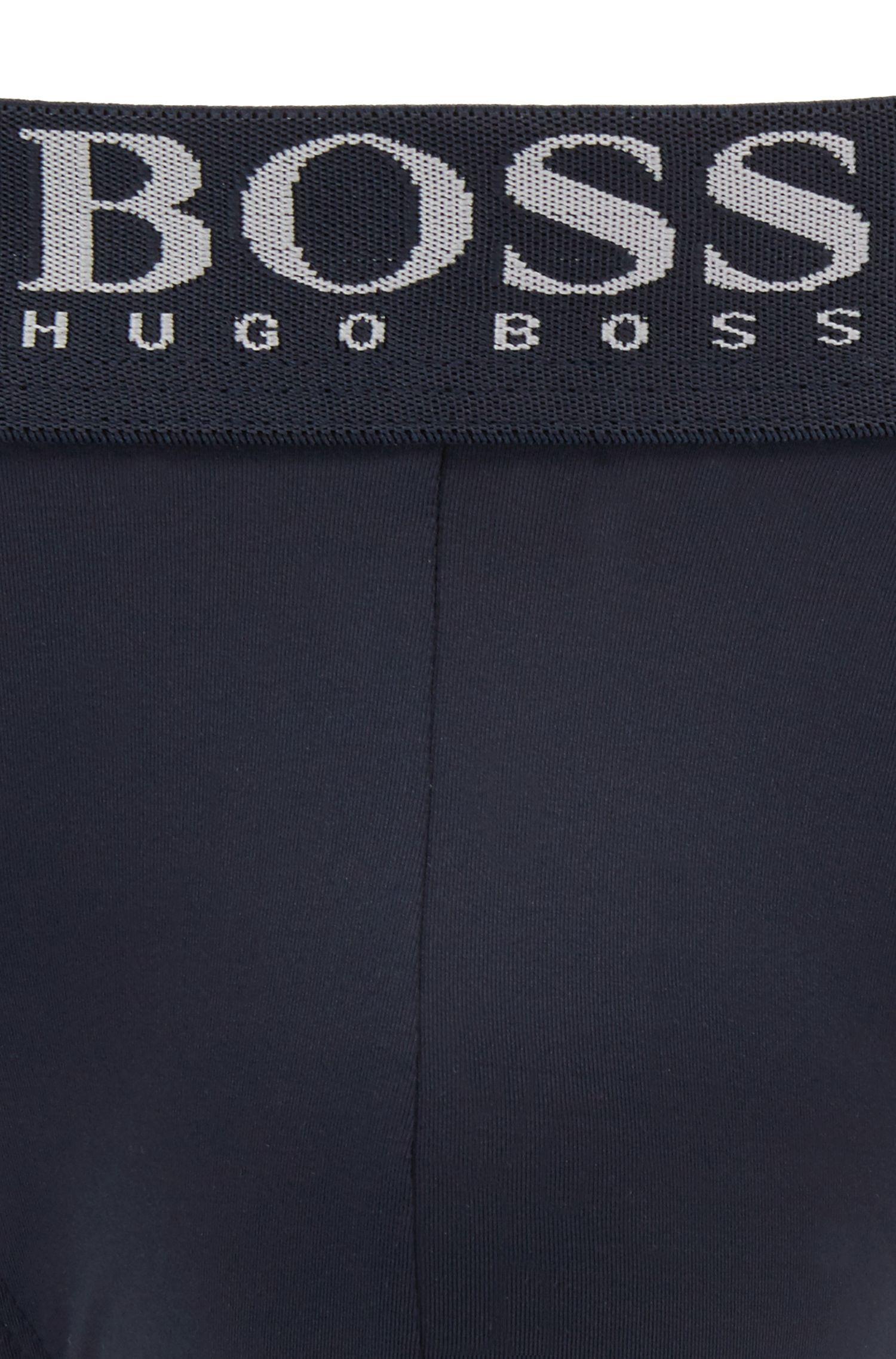 Slip met tailleband met logo, van microvezels met vierzijdige stretch, Donkerblauw