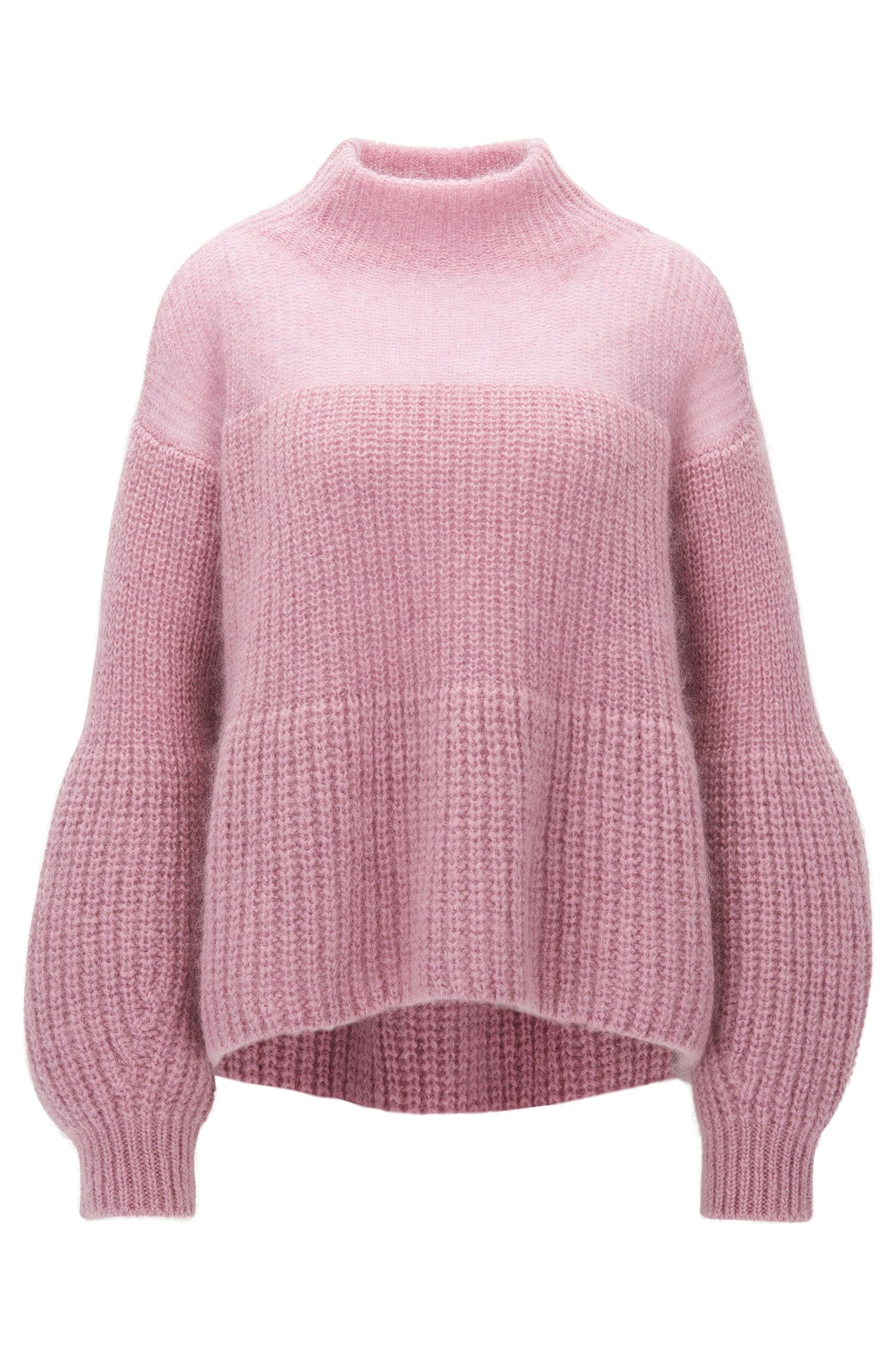 A-line sweater in a knitted mohair blend
