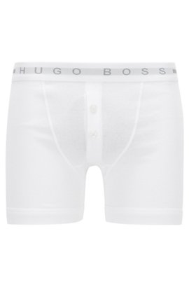 Cheap Huge Surprise Cheap Limited Edition Button-fly trunks in ribbed cotton BOSS For Cheap Sale Online Sale Footaction Store Online BdeWmoJPT