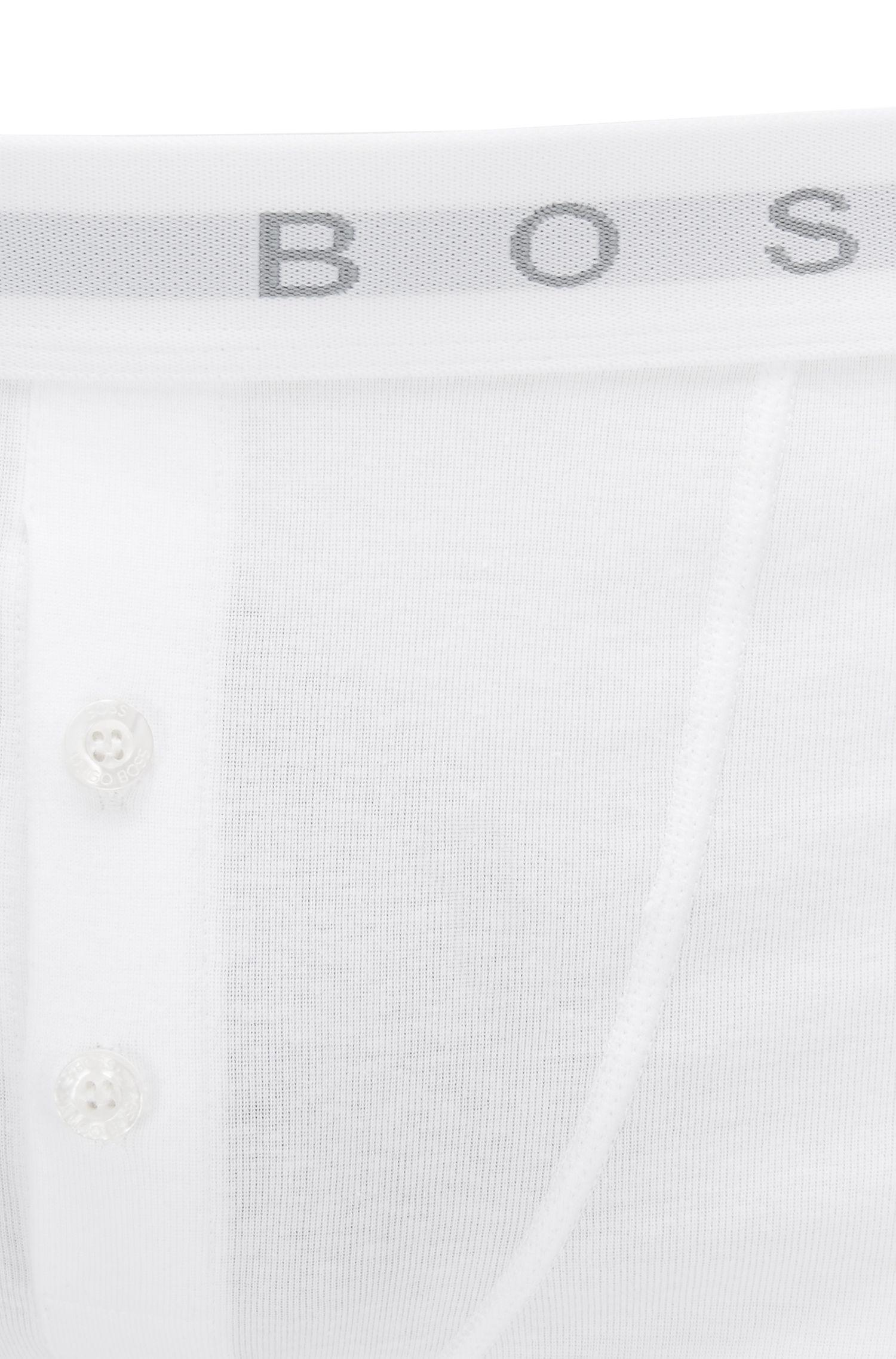 Boxer à braguette boutonnée en coton côtelé