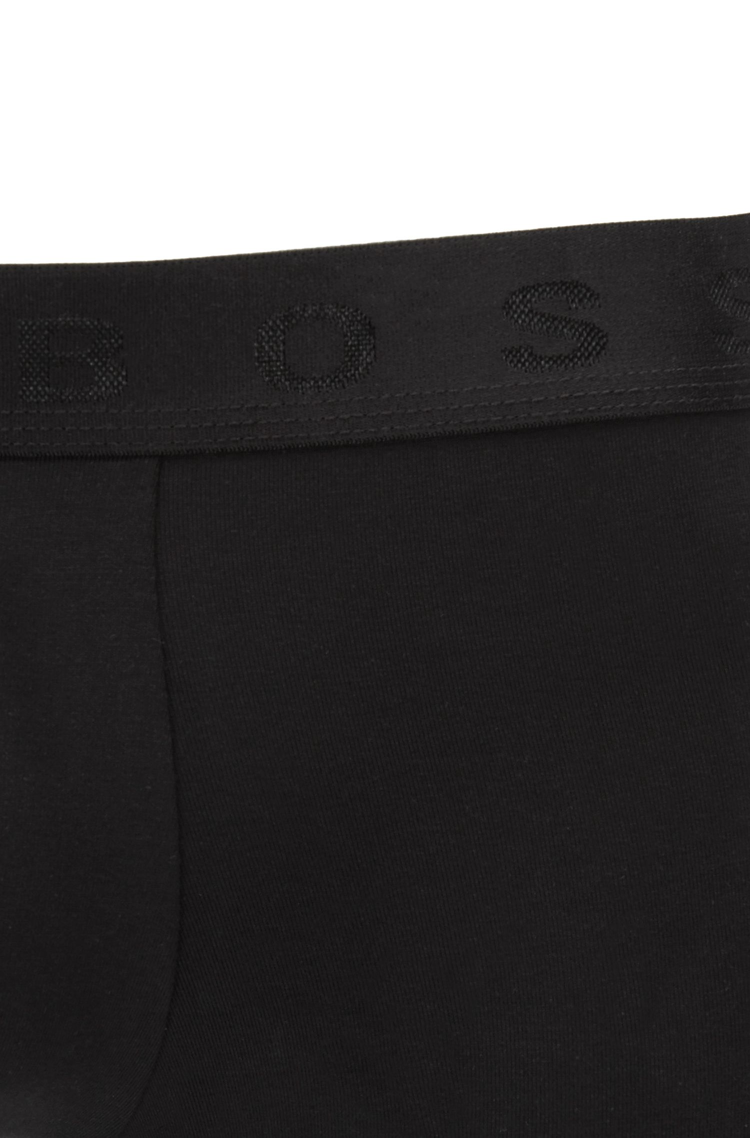 Boxer en coton égyptien stretch durable, Noir