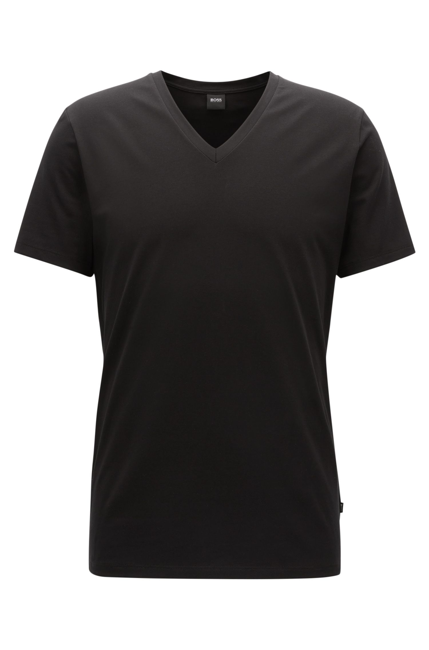 V-neck underwear T-shirt in Egyptian stretch cotton