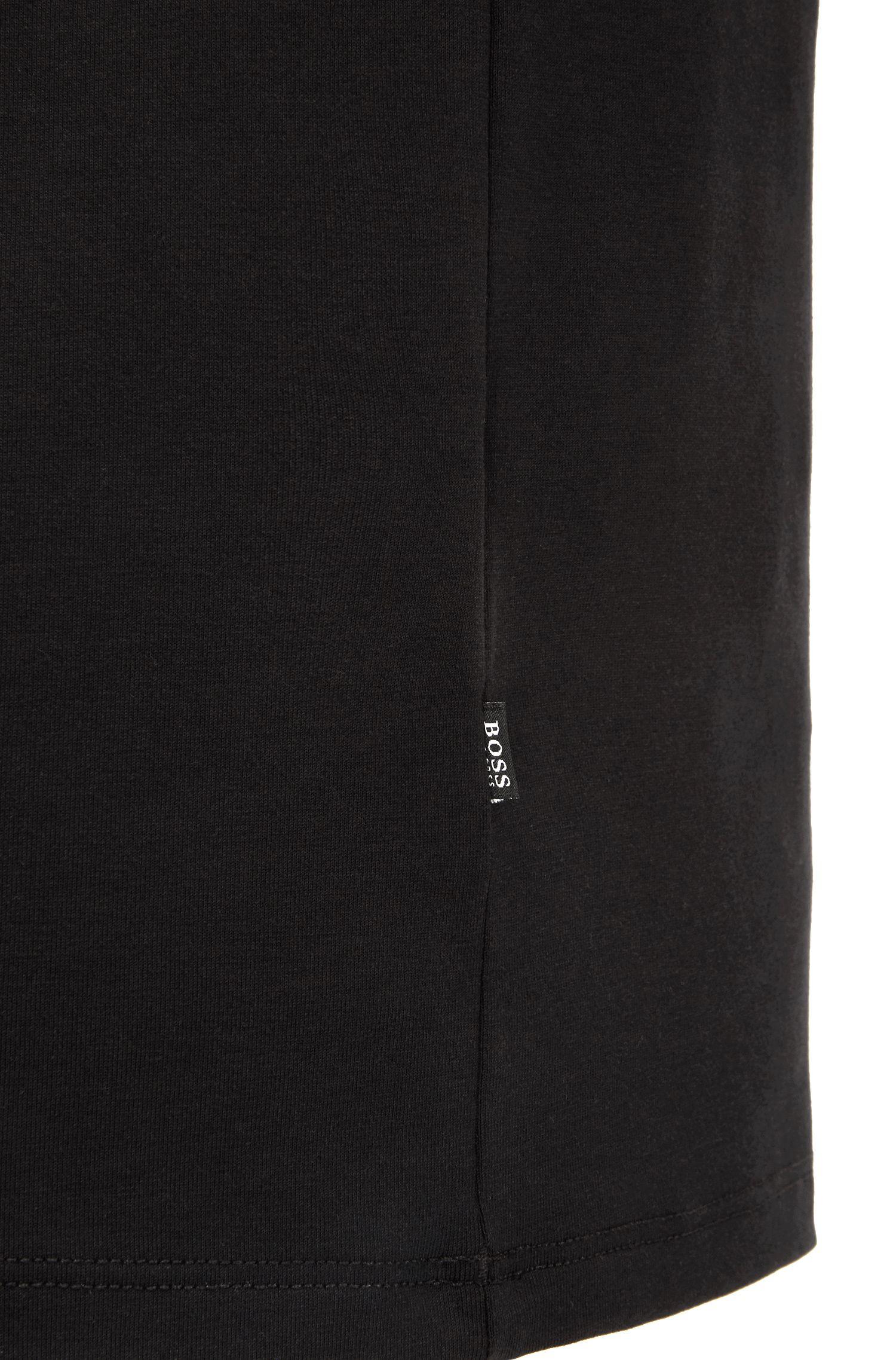 T-shirt sous-vêtement à col V en coton égyptien stretch, Noir