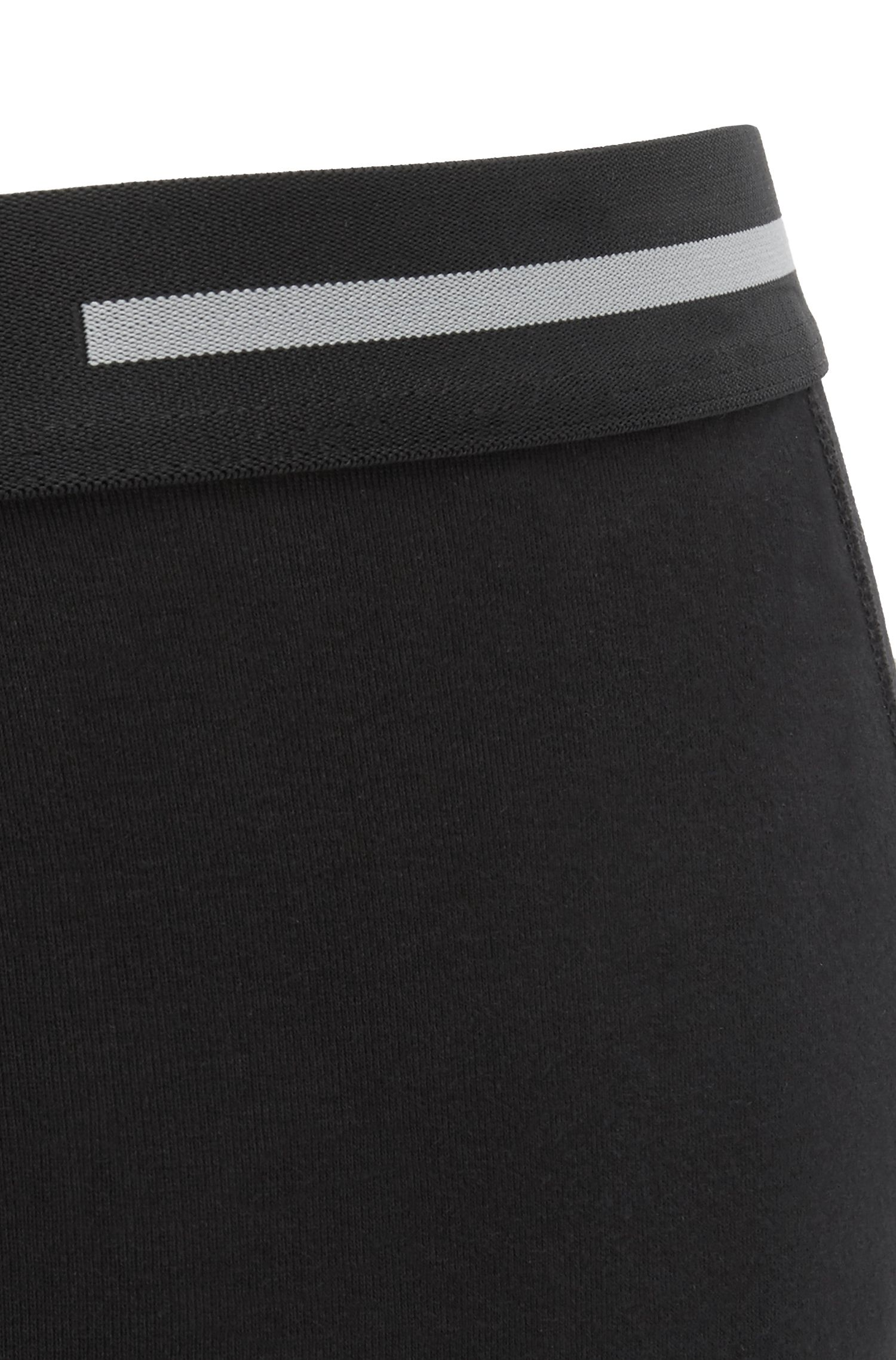 Cotton trunks with logo waistband, Black