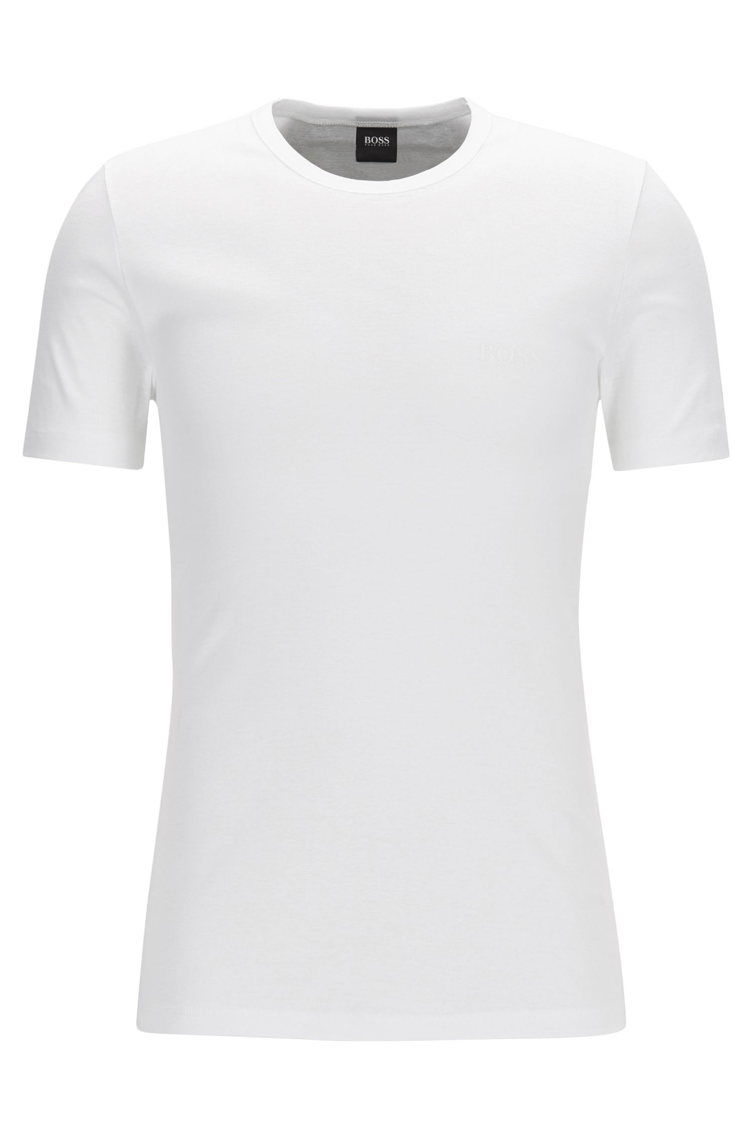 Regular-fit underwear T-shirt van geribbelde katoen, Wit