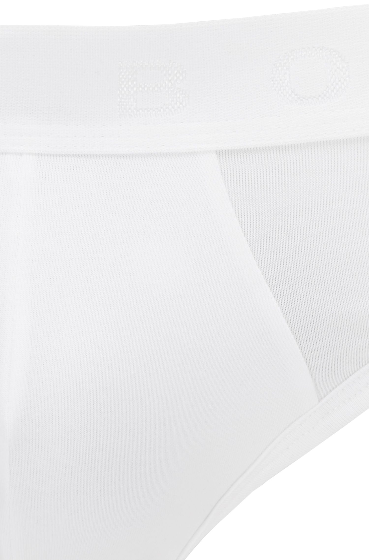 Briefs in Egyptian stretch cotton, White
