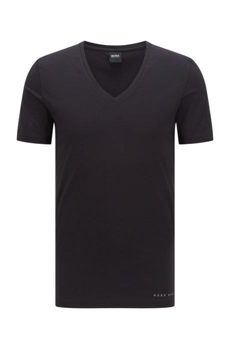 Slim-fit underwear T-shirt in a Coolmax® cotton blend, Black