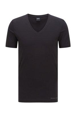 Slim-fit underwear T-shirt with Coolmax® finishing, Black