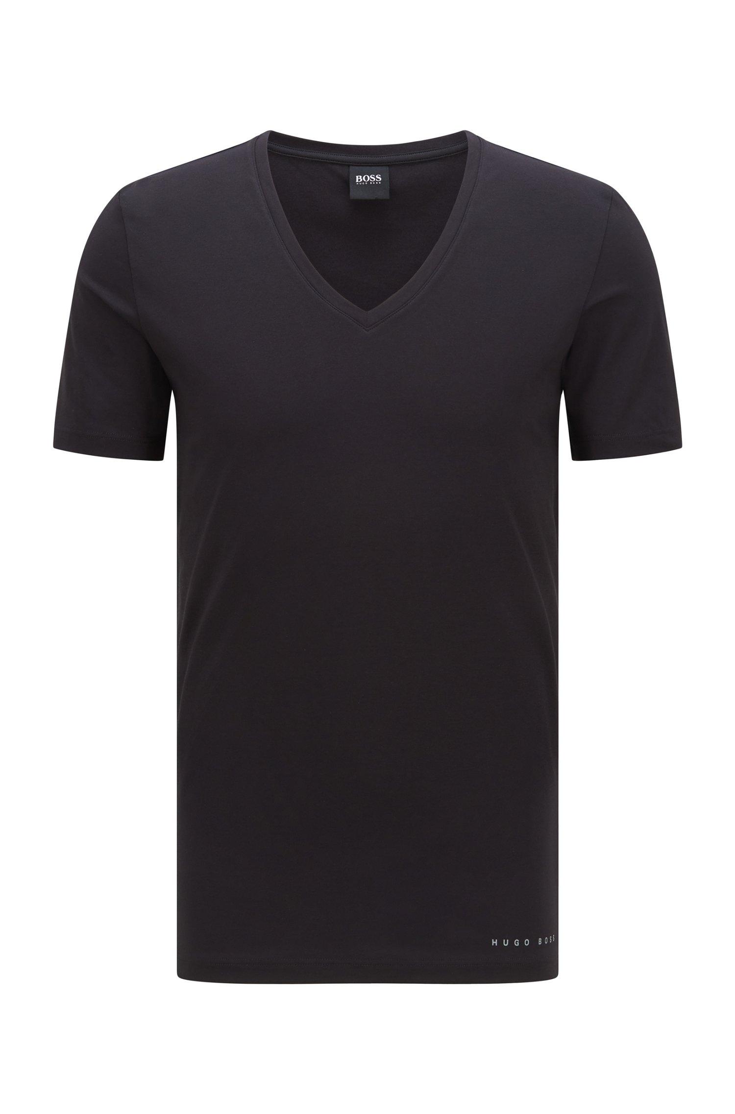 Slim-Fit T-Shirt mit Coolmax®-Finish, Schwarz