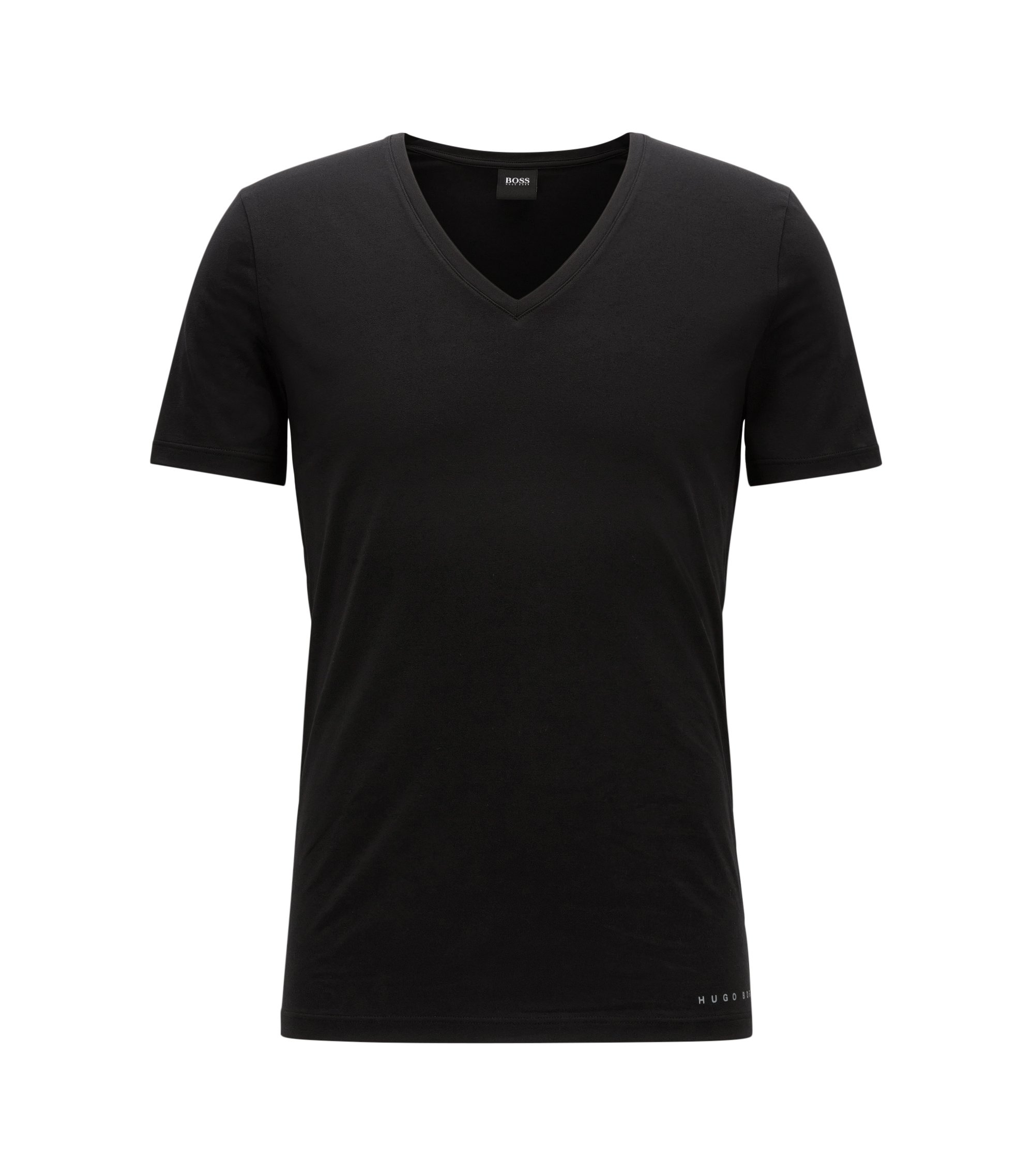 T-shirt slim fit COOLMAX® in misto cotone, Nero