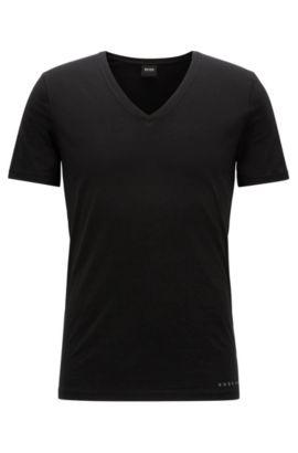 T-shirt slim fit COOLMAX® in misto cotone, Nero