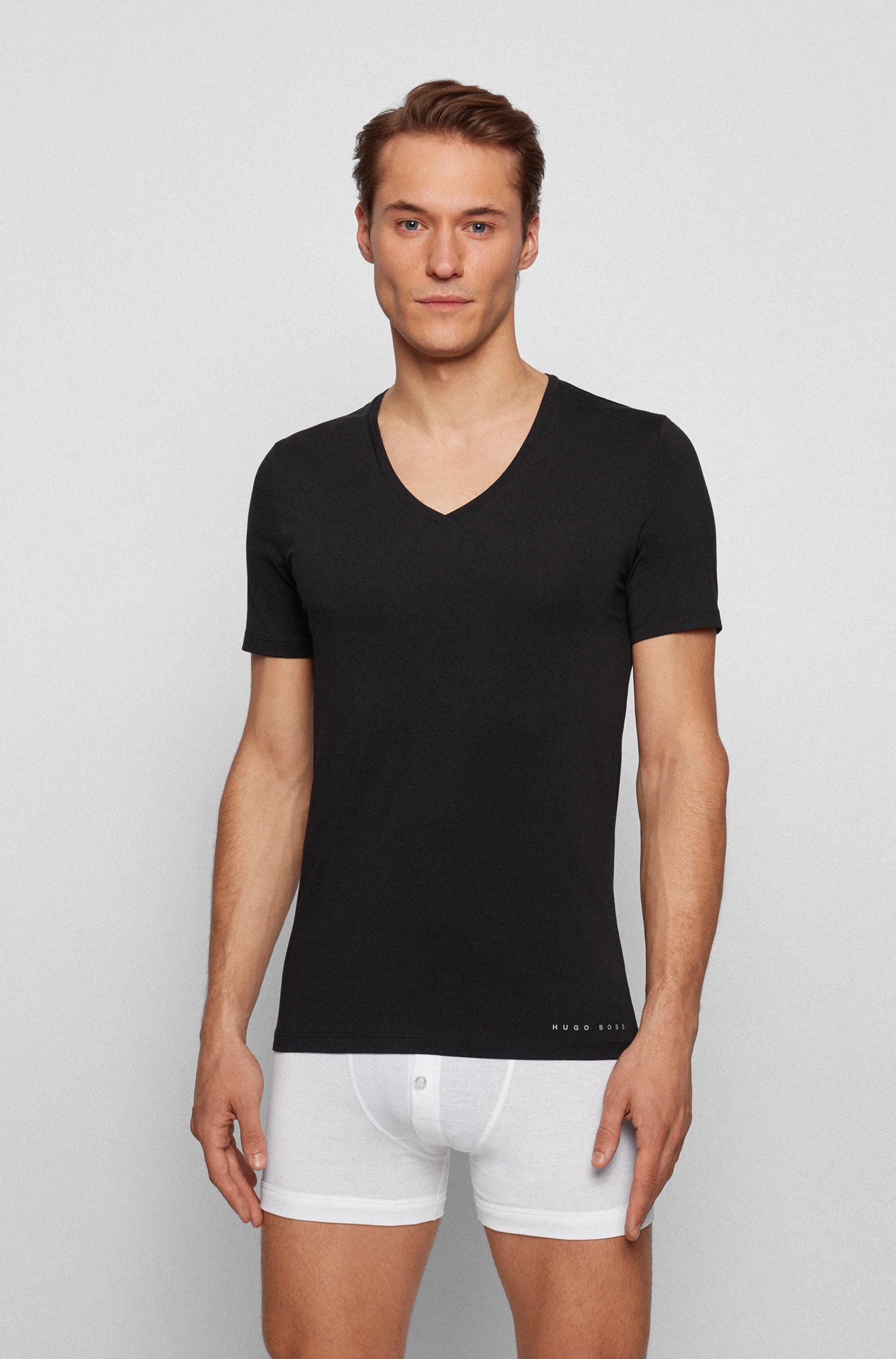 Slim-fit underwear T-shirt with Coolmax® finishing