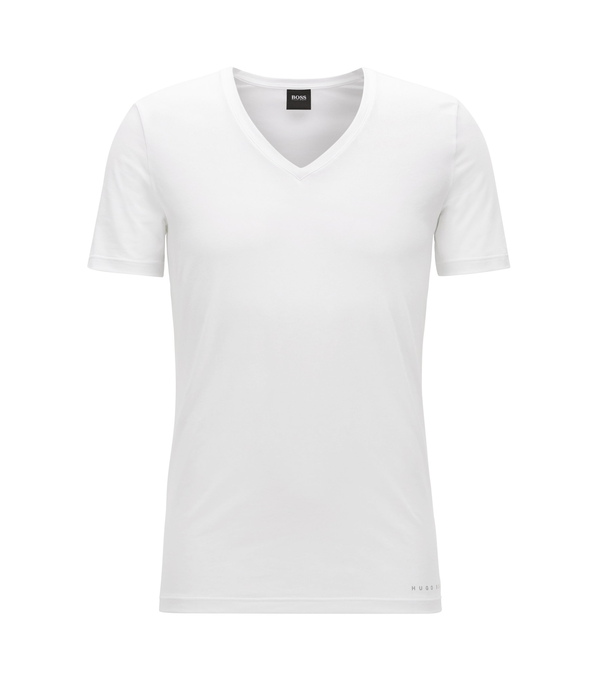 Slim-fit COOLMAX® T-shirt in a cotton blend, White