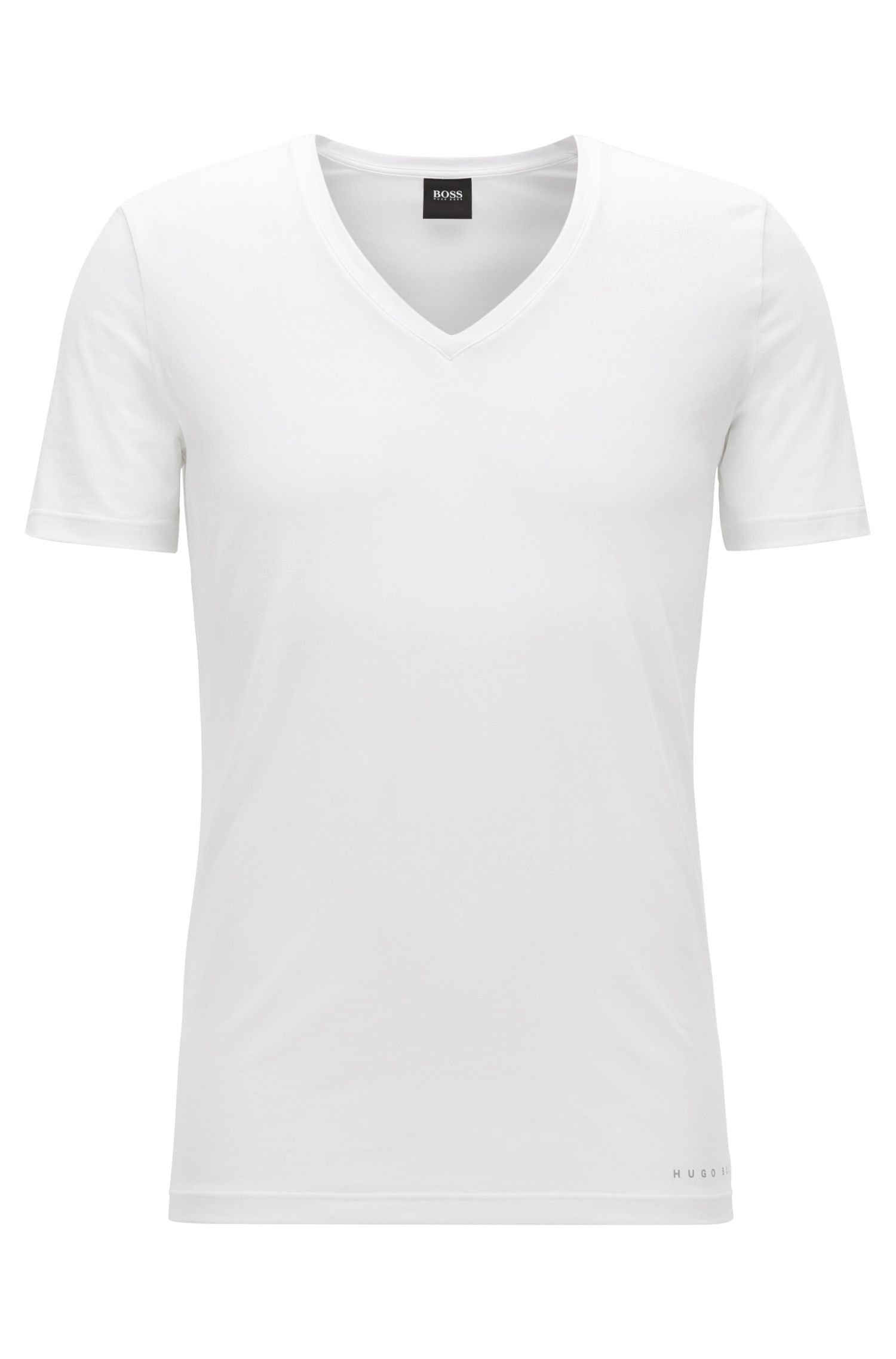 Slim-fit COOLMAX® T-shirt van een katoenmix, Wit