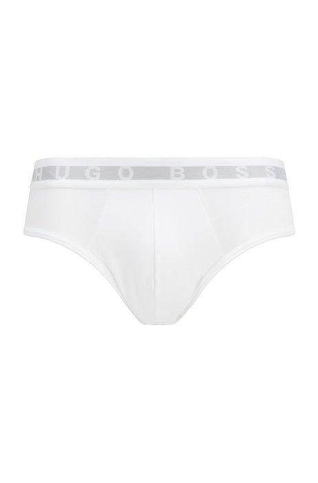 Slips en mezcla de algodón con absorción de la humedad Coolmax®, Blanco
