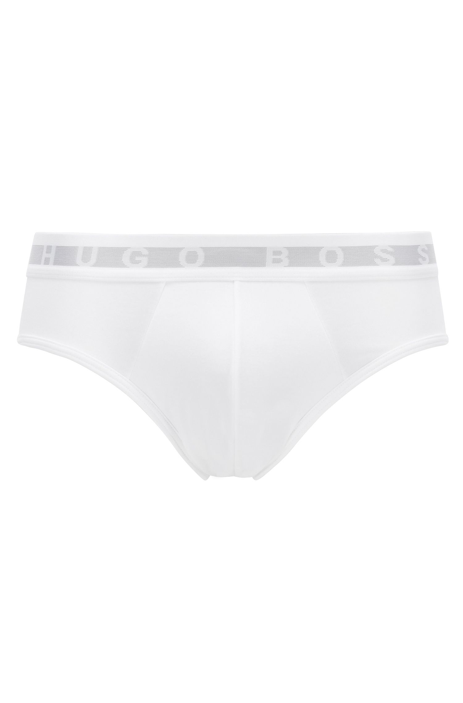 Briefs in a COOLMAX® cotton blend, White