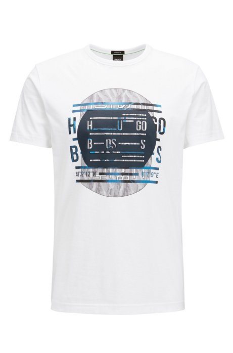 Regular-fit logo T-shirt in cotton BOSS Buy Cheap Excellent Real Cheap Online Clearance Sale V1WUGWT