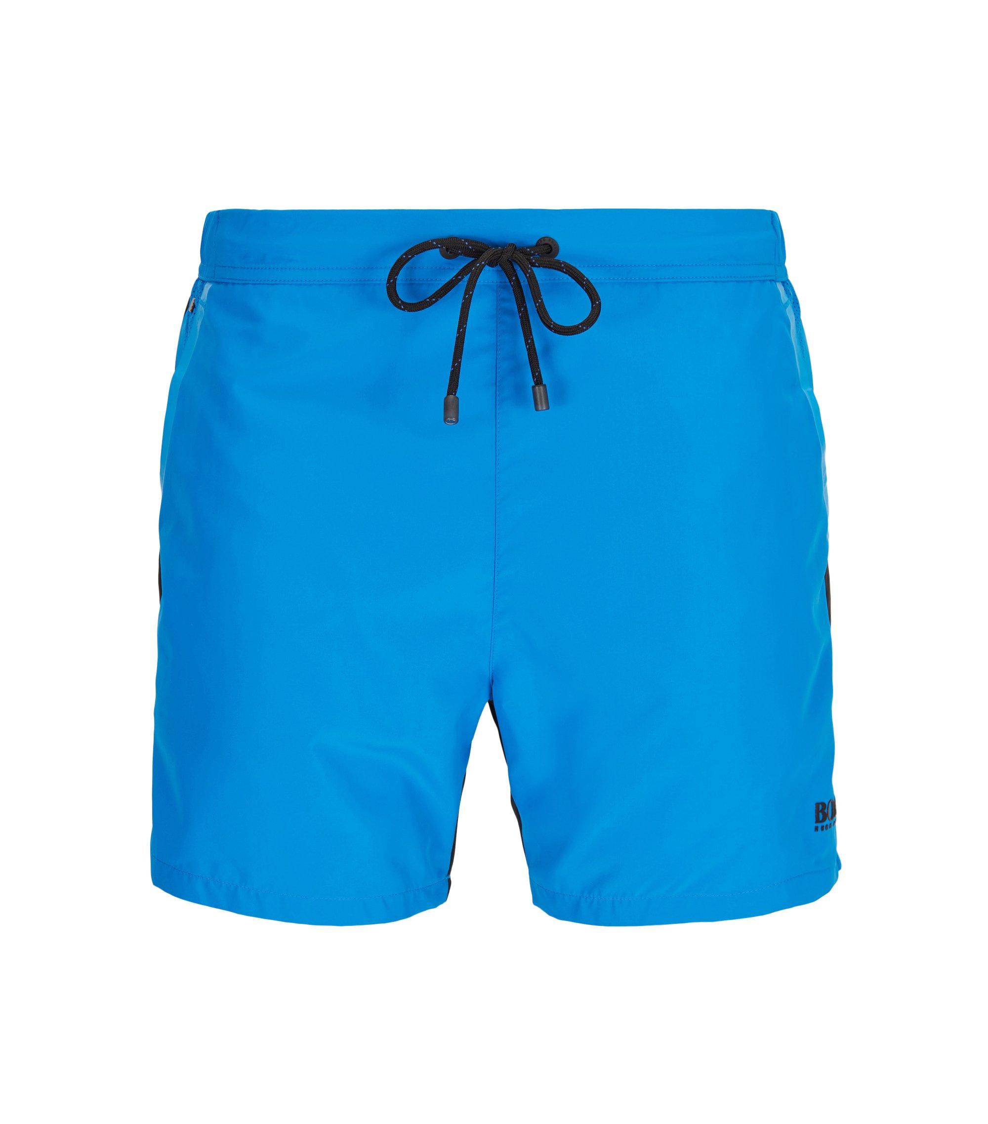 Bañador short de largo medio y secado rápido con cintura semielástica, Turquesa
