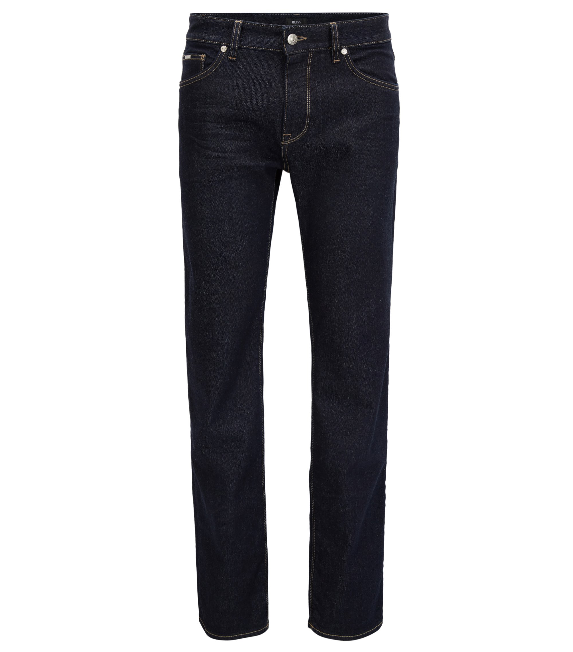 Jean Regular Fit en denim stretch confortable, Bleu foncé